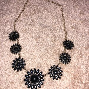 Gold and navy necklace